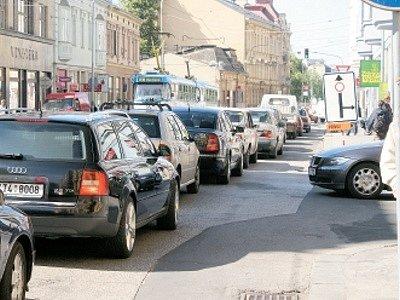 Ostrava bývá často ucpaná.