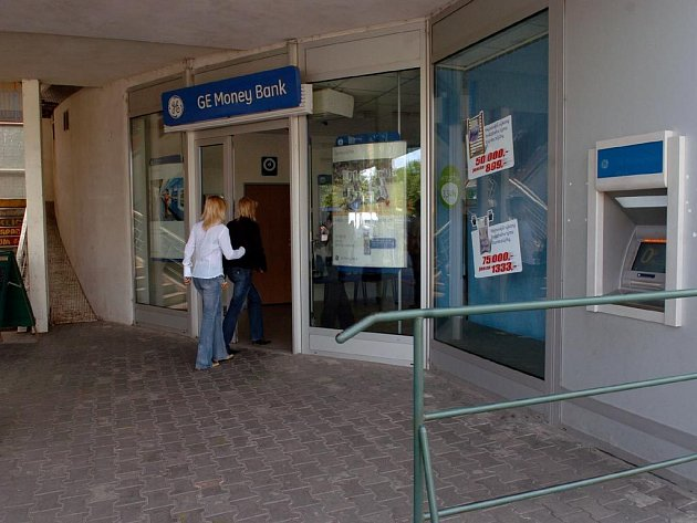 Přepadená banka GE Money v Ostravě-Hrabůvce