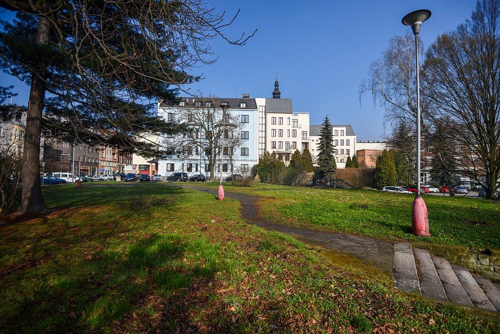 Farská zahrada v centru Ostravy, 29. března 2019 v Ostravě.