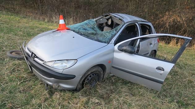 Snímek z nehody v Píšti.