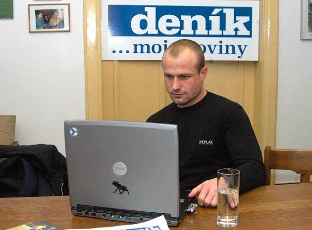 Martin Lukeš při online rozhovoru v redakci Moravskoslezského deníku