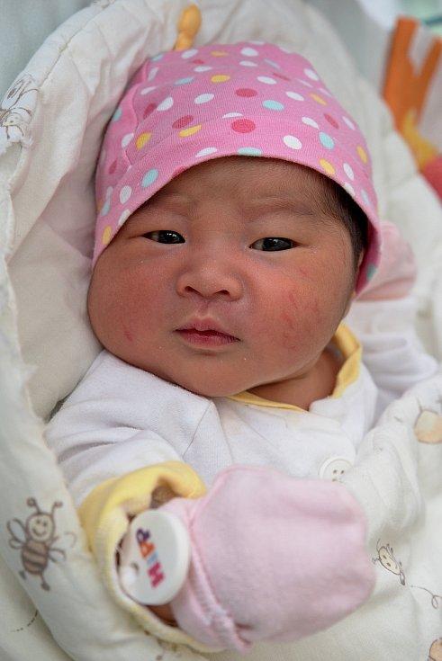 Nguyen Gia Han z Karviné, narozena 11. června 2021 v Karviné. Foto: Marek Běhan