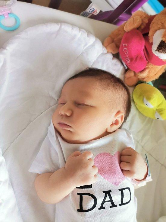 Melánie Procházková, Havířov, narozena 19. července 2021 v Havířově, míra 52 cm, váha 3400 g. Foto: Michaela Blahová
