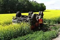 Nehoda cisterny u Velké Polomi omezila dopravu.