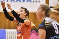 Volejbal, ženy - Ostrava – Frýdek-Místek, 17. října 2018 v Ostravě. Na snímku Simona Lukáčová.