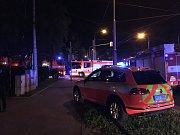 Snímek z místa požáru v ostravském Domově pro seniory Kamenec.