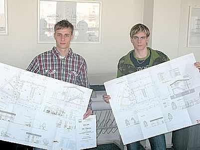 Úspěšní studenti Jiří Valenta a Jaroslav Klega