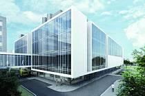 Vizualizace. Takto by měla vypadat dostavba nové části městské nemocnice.