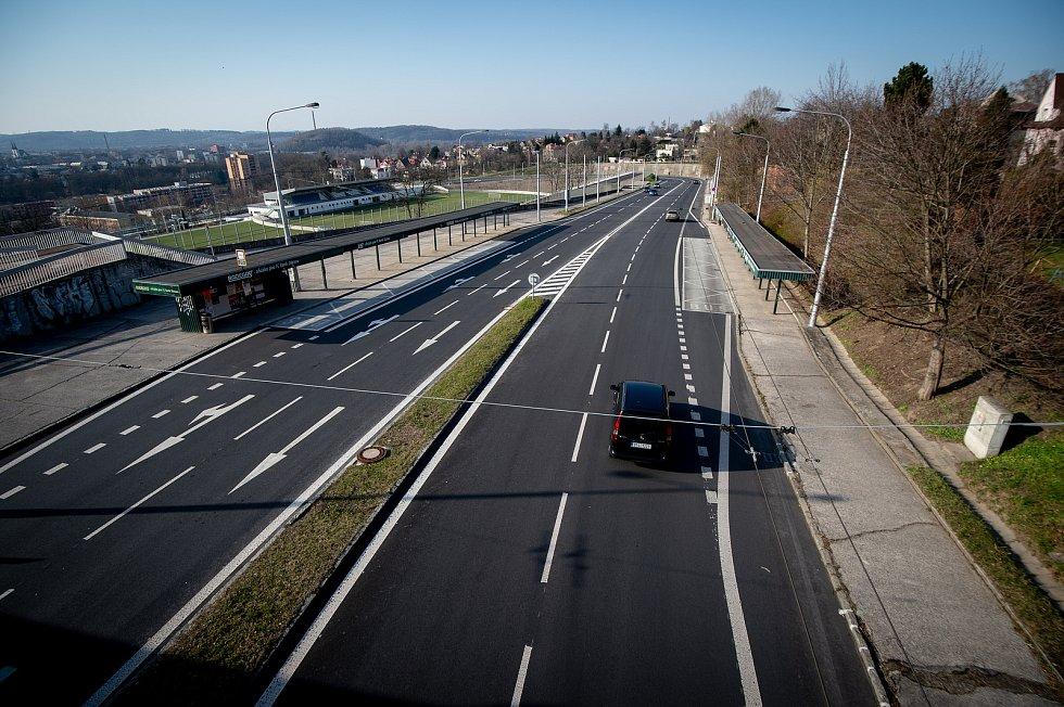 Slezská Ostrava, 25. března 2020. Českobratrská ulice.