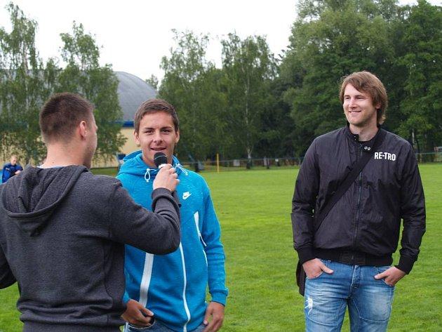 Tváře Turnaje vítězů Daniel Holzer a Aleš Neuwirth.