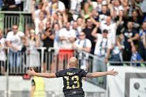 Utkání 2. kola první fotbalové ligy: MFK Karviná - Baník Ostrava, 22. července 2019 v Karviné. Na snímku Tomáš Smola.