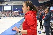 Mistrovství světa v para hokeji 2019, Korea - Česká republika (zápas o 3. místo), 4. května 2019 v Ostravě. Na snímku Dobešová Michaela.