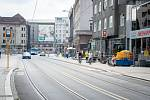 Oprava ulice Nádražní v Ostravě.