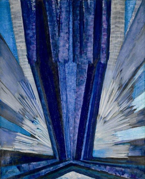 František Kupka. Tvar modré, 1913.
