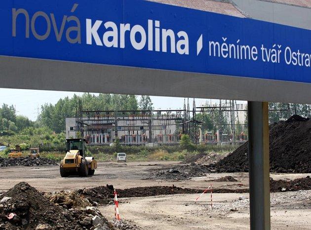 Výstavba Nové Karoliny na počátku července 2008