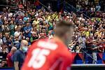 Utkání skupiny B mistrovství Evropy volejbalistů: ČR - Itálie, 9. září 2021 v Ostravě. Diváci, fanoušci.