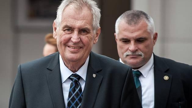 Prezident Miloš Zeman při návštěvě Ostravy ve středu 6. září 2017.