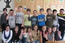 Děti třetí třídy Základní školy Nádražní v Ostravě.