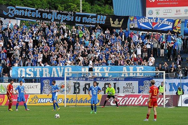 Snímek ze zápasu Baník Ostrava – Dukla Praha.