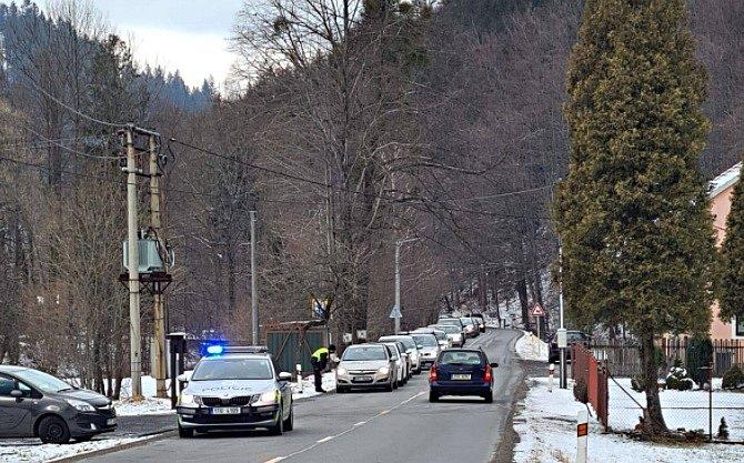 Situace v obci Krásná pod Lysou v Beskydech v sobotu 9. ledna 2020.