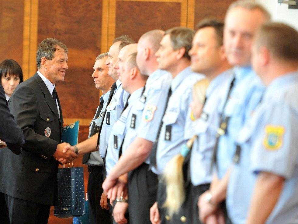 Ocenění strážníků. Ilustrační foto.