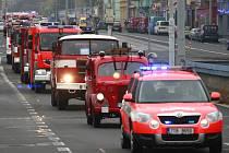Spanilá jízda hasičů. Ilustrační foto.