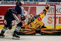 OBLÍBENÝ SOUPEŘ. Hokejový útočník Vítkovic Petr Kolouch to doma proti Litvínovu umí. Severočechům dal v Ostravě ve dvou zápasech této sezony tři góly, celkově jich má v sezoně na kontě čtyři.