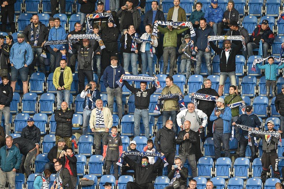 Utkání 1. kola nadstavby první fotbalové ligy, skupina o titul: Baník Ostrava - SK Slavia Praha, 20. června 2020 v Ostravě. Diváci / Fanoušci.