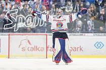 Utkání 36. kola hokejové extraligy: HC Vítkovice Ridera - HC Kometa Brno, 18. ledna 2019 v Ostravě. Na snímku brankář Vítkovic Patrik Bartošák.