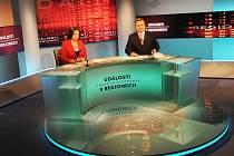 Zkušební vysílání z nového studia České televize Ostrava.