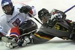 Ze zápasu sledge hokeje mezi týmy Česka a Německa