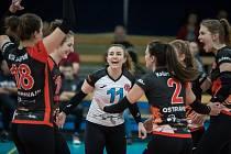 V tomto ročníku extraligy odehrály sedm zápasů a ve všech se volejbalistky TJ Ostrava radovaly z vítězství.