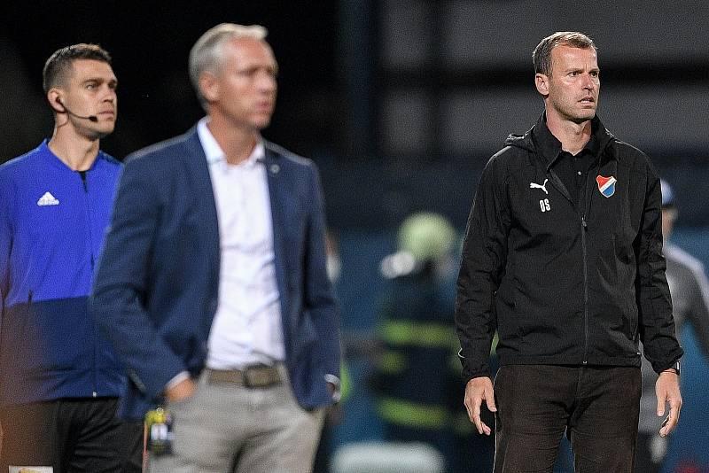 Utkání 8. kola první fotbalové ligy: SK Sigma Olomouc - FC Baník Ostrava 17. září 2021 v Olomouci. Trenér Ostravy Ondřej Smetana.