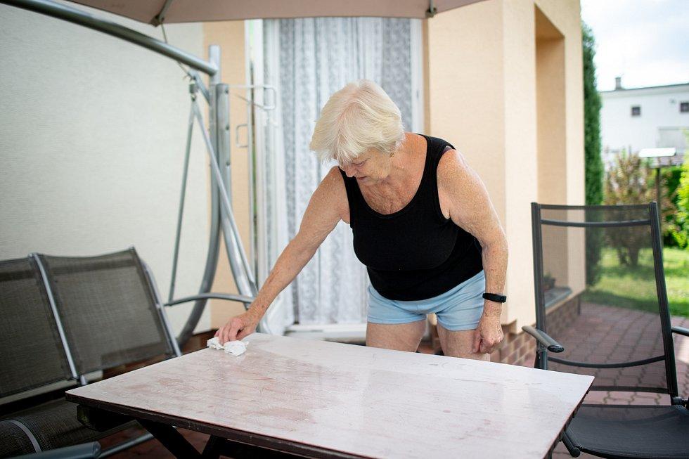 Halda Heřmanice, 28. června 2019 v Ostravě. Na snímku obyvatel Heřmanic Dáša Kubíčková.