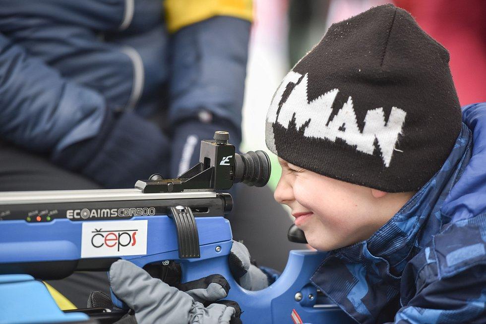 Olympijský festival u Ostravar Arény, 12. února 2018 v Ostravě. Biatlon.