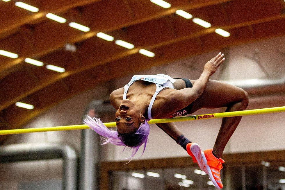Mezinárodní halový atletický mítink Czech Indoor Gala 2020, 5. února 2020 v Ostravě. Skok vysoký, ženy Priscilla Frederick z Nizozemských Antil.