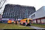 Požár vypukl v osmém patře Hotelového domu Hlubina v Ostravě-Hrabůvce.