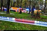 Snímek ze zásahu hasičů po výbuchu v domě v Ostravě-Hulvákách.