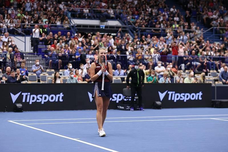 Estonka Anett Kontaveitová vyhrála tenisový turnaj WTA 500 v Ostravě 2021.