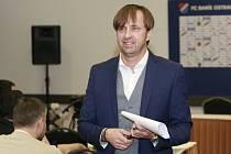 Nový majitel Baníku Ostrava Václav Brabec na tiskové konferenci.