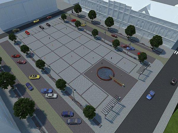 Vizualizace. Takhle bude vypadat náměstí Jiřího zPodbrad po proměně.