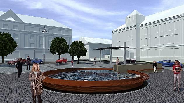 Vizualizace. Takhle bude vypadat náměstí Jiřího z Podbrad po proměně.