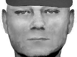 Identikit jednoho z lupičů, kteří 21. září ráno přepadli hernu Golden Valley v Moravské Ostravě.