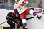 Mistrovství světa hokejistů do 20 let, finále: Rusko - Kanada, 5. ledna 2020 v Ostravě. Na snímku (zleva) Ty Smith a Alexander Khovanov.