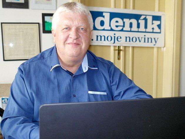 Josef Pravda, kandidát ČSSD na senátora v ostravské redakci Deníku.