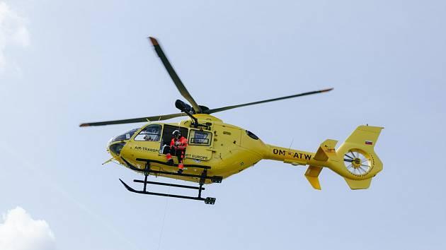 Vrtulník EC 135 T2+ v akci.