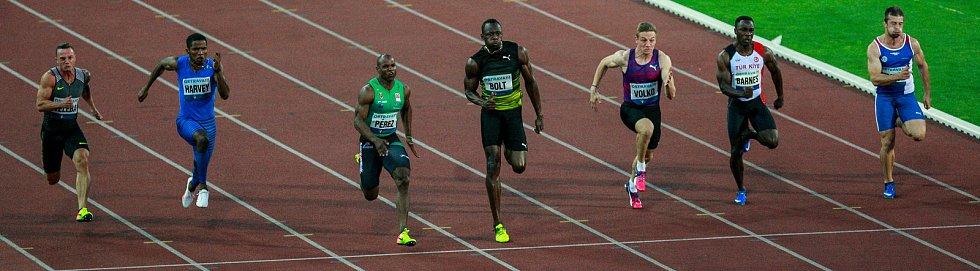 56. ročník atletického mítinku Zlatá tretra, který se konal 28. června 2017 v Ostravě. Na snímku závod mužů na 100m.