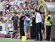 Utkání 2. kola první fotbalové ligy: MFK Karviná - Baník Ostrava, 22. července 2019 v Karviné. Na snímku (vlevo) Martin Fillo.
