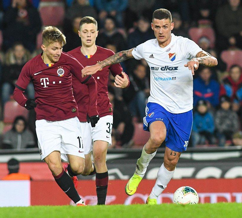 Roman Potočný - Čtvrtfinále MOL Cup AC Sparta Praha - FC Baník Ostrava, Generali Česká pojišťovna Aréna, Praha, 4. března 2020.