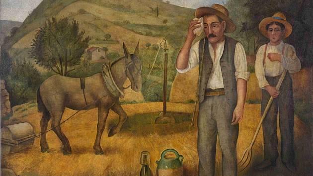 OTAKAR KUBÍN: PODZIM V PROVENCE, 1921, olej na plátně, Moravská galerie Brno.